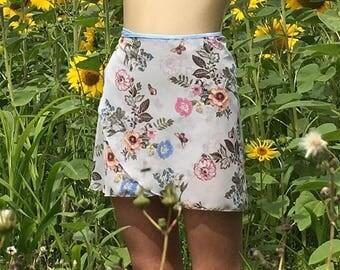 ballet chiffon wrap skirt with elastic ties