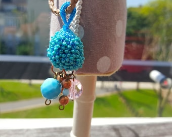 Original crocheted necklace with glass seed beads.