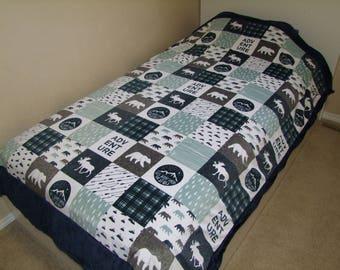 Moose Blanket Etsy