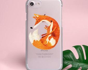 Cute Foxes Google Pixel 2 Case iPhone X Case iPhone 8 Case iPhone 7 Case Case iPhone 6s Plus Case Samsung Galaxy S8 Case S7 S6 Case YZ1048