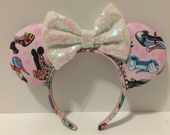 Princess Heel Minnie Ears - High Heel Minnie Ears - Disney Princess Ears - Disney Inspired Princess Ears - High Heel Ears