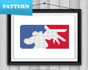 Limp Bizkit logo cross stitch pattern