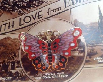 vintage butterfly brooch / pendant