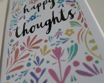 Happy Thoughts wall art