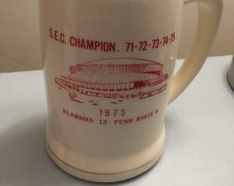 1975 Alabama Foitball Mug