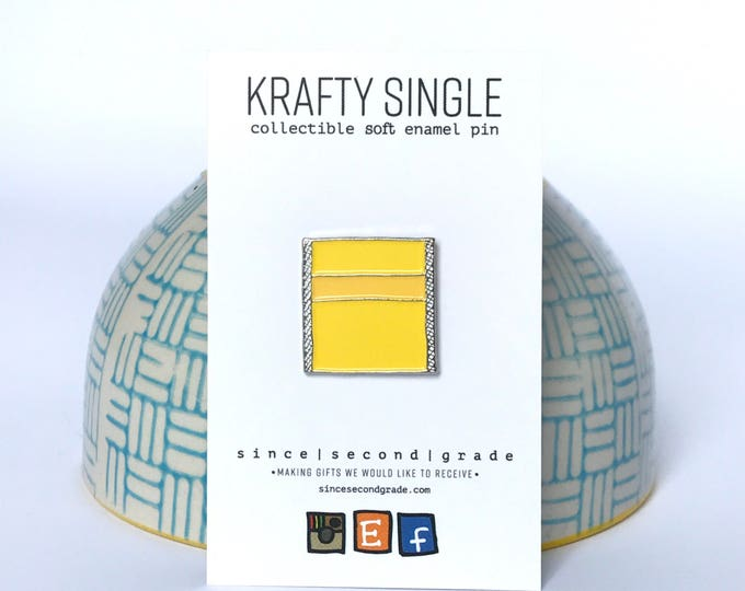 Krafty Single Enamel Pin by Since Second Grade