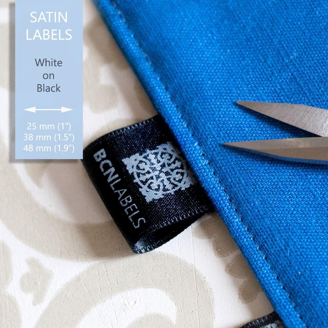 custom 100 pcs white on black soft satin labels   care Vintage Luggage Clip Art Suitcase Clip Art