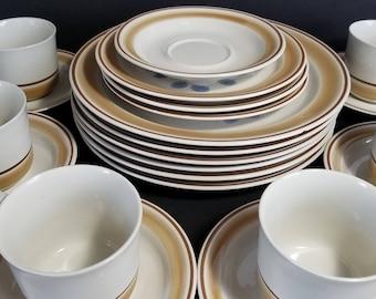 Vintage Watercolors Hearthside Dinnerware Set Plates Cups Saucers