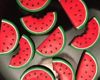 Watermelon Sugar Cookies (1 dozen)