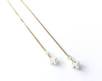 Diamond Threader Earring Set