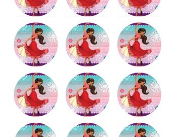 Edible Elena of Avalor cupcake/cake toppers , Elena of Avalor cake decorations, Elena of Avalor birthday, edible