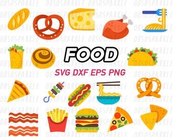 food svg,eps,png.dxf,monogram,pretzel,bacon,cheese,cinnamon roll,burger,noodle,fast food, taco,tapas,mexican,pizza,nachos,kebab