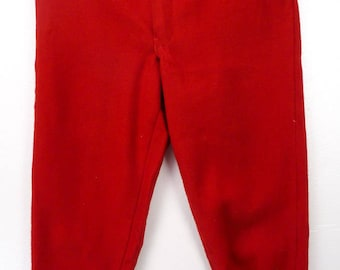 Vintage 50s WesternField Hawthorne All Wool Red Hunting Lumberjack Pants 38x31 1950s Tapered Warm Winter Slacks Trousers Western Field