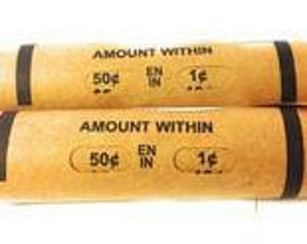 Wheat penny rolls 2 unsearched rolls of 1909 1939 PDS