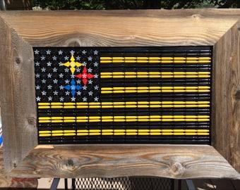 Pittsburg Steelers American Flag