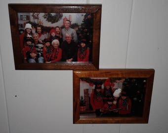 5x7 picture frame, 5x7 cluster picture frame, handcrafted picture frame