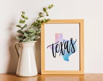 Texas Hurricane Harvey Relief 100% Donation   Texas   Instant Digital Download   Calligraphy Printable