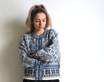 Light blue Nordic sweater