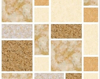 Pack of 10 brown multi mosaic tile stickers transfers, with added gloss affect, just peel and stick, bathroom kitchen