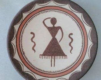 Decorative panel, Ceramic, Wall decor, Folk Art, Clay panel, Art ceramics, hand-painted, exclusive pottery, original ceramic, decor