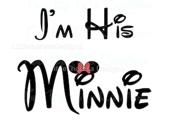 I'M His Minnie Iron On Transfer