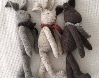 Natural Knitted Rabbit