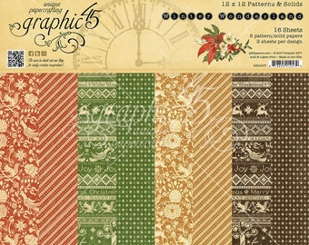 Graphic 45 - Winter Wonderland : Patterns & Solids