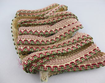 Stripe upholstery Ecru / Burgundy / Green