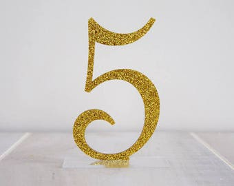Elegant Glitter Table Numbers | Wedding Table Numbers | Party Decor | Standing Numbers | Centerpieces | Acrylic |
