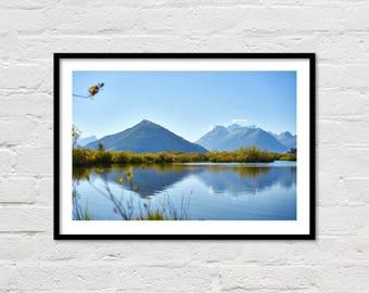 Lake Photograph, Printable Art, Canvas Printable, High Resolution, Digital Download Photography, Home Decor, New Zealand Art, Glenorchy