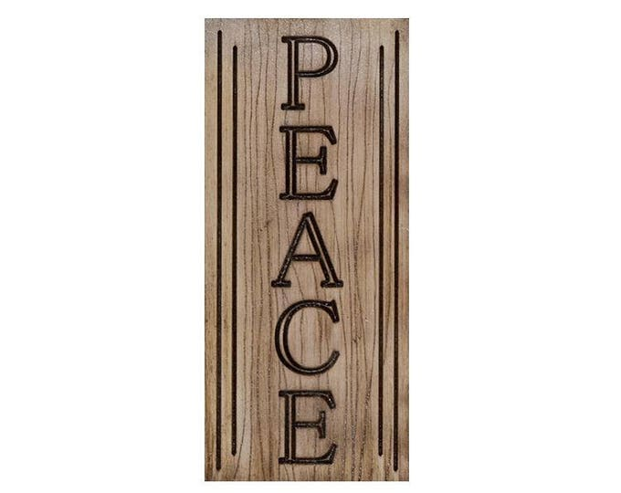 Peace Sign, Home Decor, Christmas Decor, Wall Art, Inspirational Sign, Homewarming Sign, Custom Wall Sign, Wall Hanging, Custom Wall Decor