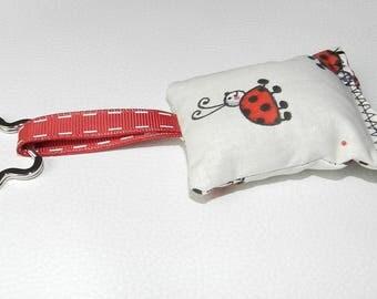 Keychains fabric cushion pattern ladybugs