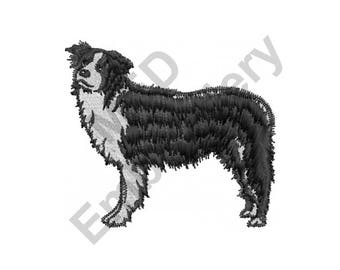 Border Collie Dog - Machine Embroidery Design