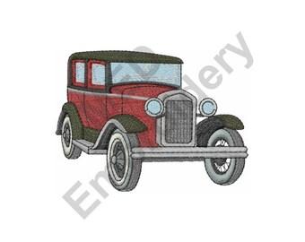 Vintage Automobile - Machine Embroidery Design