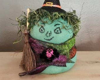 Witch Sock Figurine