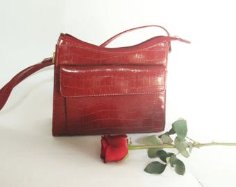90s Red Leather Purse