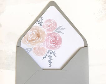 A7 Peony Envelope Liner