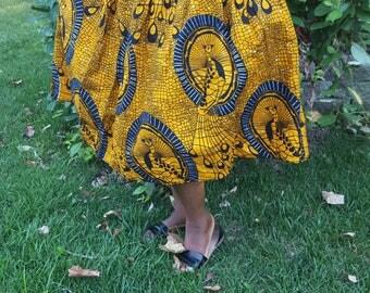 Beautiful Ankara midlength skirt