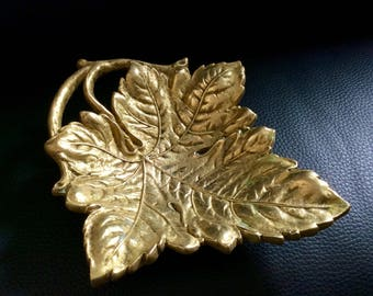 Gold metal dish
