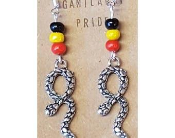 Aboriginal Snake Earrings