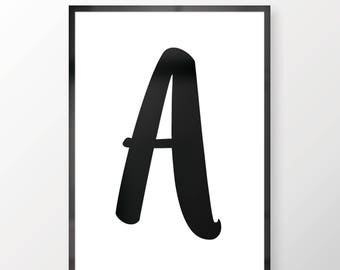 Customisable Letter Wall Print - Wall Art, Personal Print, Home Decor