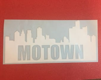Motown Decal, Detroit decal, music, funk brothers, musician
