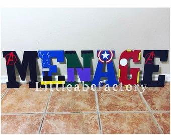 11 in Superhero letters, super hero name, super heroes, superheroes, batman