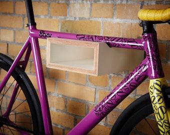 FREE SHIPPING // Wooden Bike Rack // Bike Shelf // Bicycle Storage