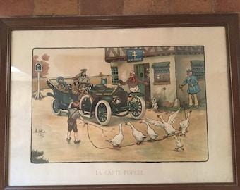 Folk art antique engraving of Albert Beerts