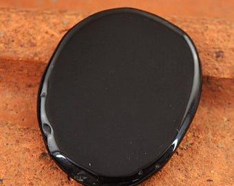 Flat 50% OFF Black Onyx cabochon gem