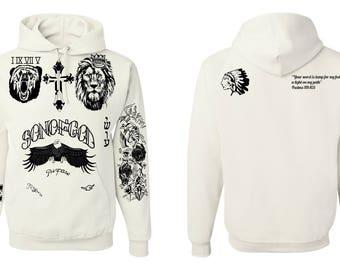 Justin Bieber Newest Tattoos hooded sweatshirt