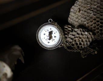Wasp Glass Globe Pendant Necklace