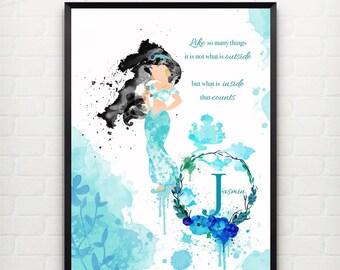 Jasmin Disney Princess Wall Art FRAMED