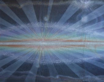 raggianze atmiche # 12, rays of the soul, spiritual art, painting